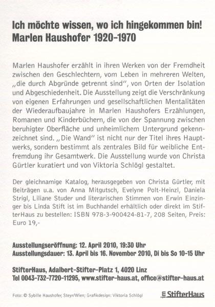 Original-Flyer zur Ausstellung 2010