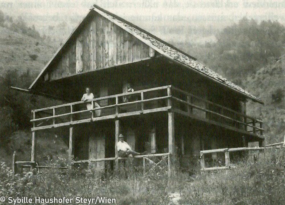 Die Lackenhütte in den zwanziger Jahren (aus Wahrscheinlich bin ich verrückt...Marlen Haushofer - die Biographie, Daniela Strigl). Copyright Sybille Haushofer Steyr/Wien