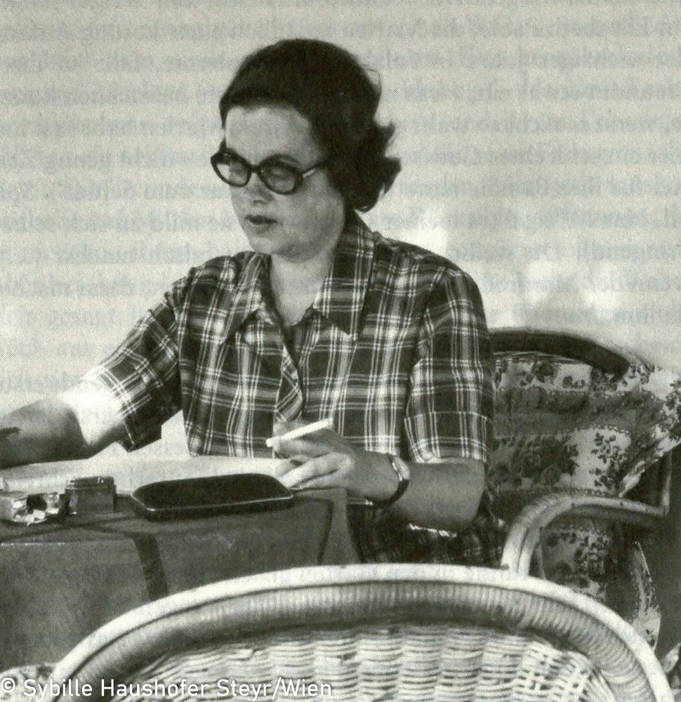 Marlen Haushofer 1969 (aus Wahrscheinlich bin ich verrückt...Marlen Haushofer - die Biographie, Daniela Strigl). Copyright Sybille Haushofer Steyr/Wien